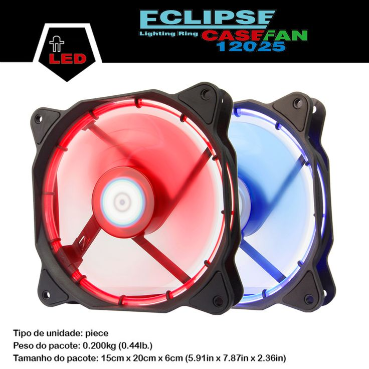 ALSEYE LED computer fan 120mm cooler 12v 1300RPM cup fan radiator gaming computer case 12025 cooling fan #CLICK! #clothing, #shoes, #jewelry, #women, #men