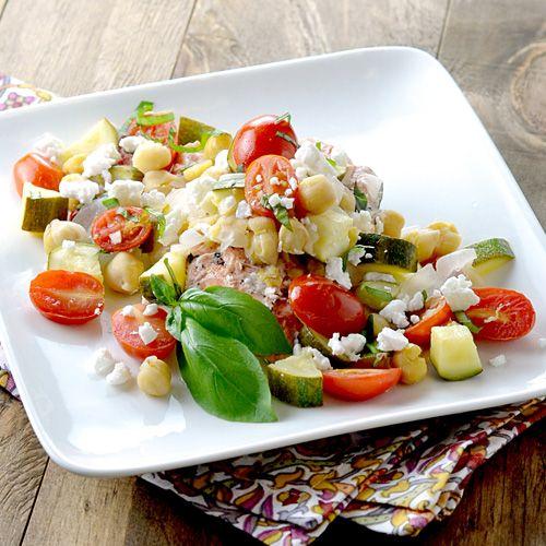Mediterranean Salmon Baked in Foil Recipe - Clean Eating