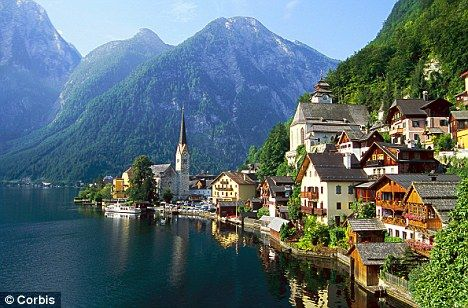 Picturesque: The Lakeside village of Hallstatt in Austria is set to be copied to the industrial city of Huizhou in China