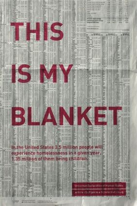 """Human Rights Final Poster 12 of 25. Cindy Chen, Poster title: """"This is My Blanket"""""""