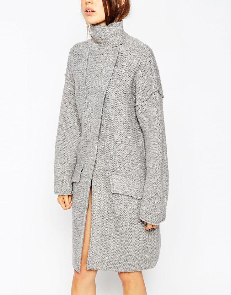 Изображение 3 из Трикотажное пальто из крученой нити ASOS Premium