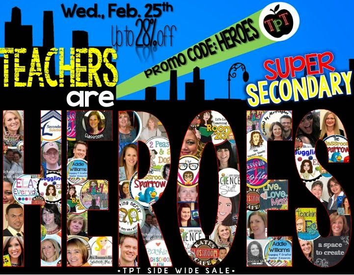 What's New? Teaching Secondary Social Studies and English with Leah: Teachers are Superheroes: Super Secondary Celebrat...