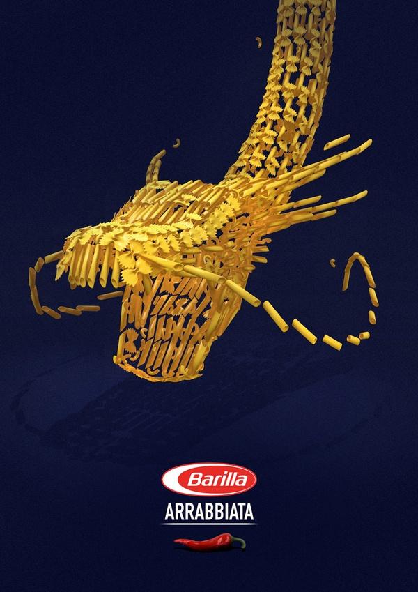 Barilla advertisement by Nathan Brunstein, via Behance