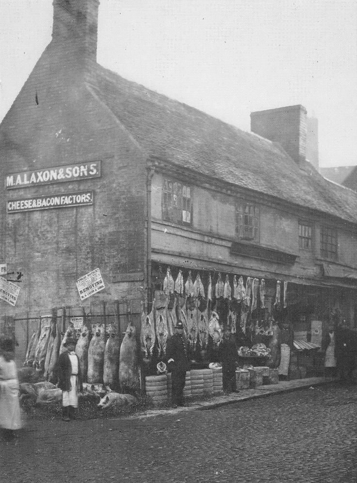 Coventry Market Place (destroyed November 1940) pictured c1880