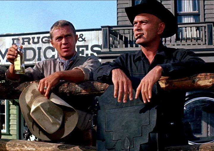 Steve McQueen and Yul Brynner The Magnificient Seven