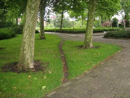 A desire path is a path created as a consequence of foot or bicycle traffic. The path usually represents the shortest or most easily navigated route between an origin and destination