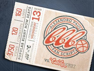 Ticket Stub by Ryan Putnam in Showcase of Creative Ticket Designs