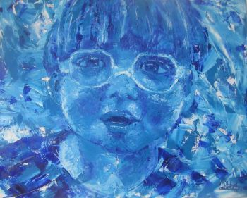 Bright Blue Original Painting  Artist: Bothma, Lillibet  Artwork title: Lil Billy  Price: $520