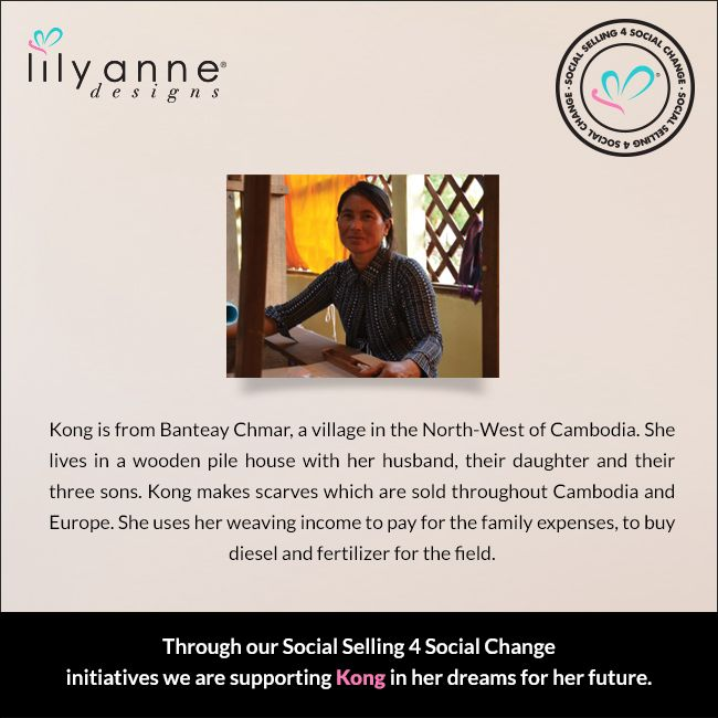 We are changing the world... one woman at a time. We believe that when women are ‪#‎empowered‬, so too are families; communities; the world. When you partner with Lily Anne Designs® you are empowering another woman in a developing country. Read Kong's story... ‪#‎LilyAnneDesigns‬ ‪#‎SocialSelling‬ ‪#‎ChangingTheWorld‬