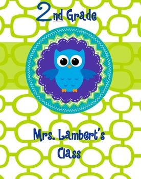Customized Owl Binder Cover on TpT