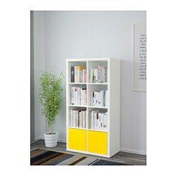 "IKEA - KALLAX, Shelving unit with doors, white, 30 3/8x57 7/8 "","