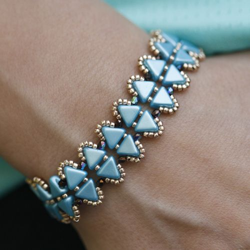 Cleopatra Bracelet Free Tutorial- Czech Beads | Eureka Crystal Beads Blog