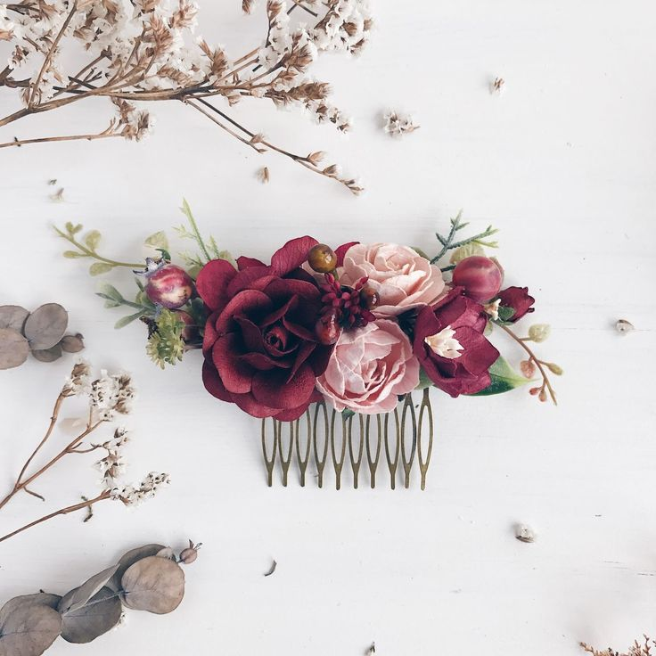 Купить Гребень для прически Marsala Collection - марсала, гребень для волос, гребень для прически, гребень для невесты