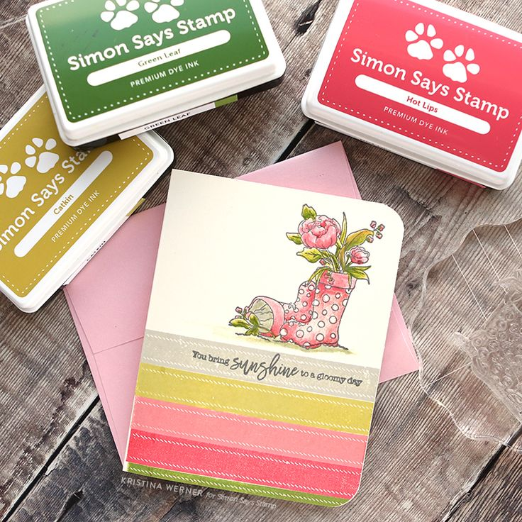 Coloring with Inks & Blender Pen – Simon Says Stamp March 2018 Card Kit – kwernerdesign blog