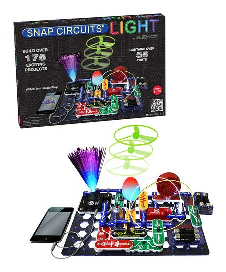 Snap Circuits Light.  We love the regular set.  This will be a wonderful addition to that one.  Perfect for learning about electric circuits!