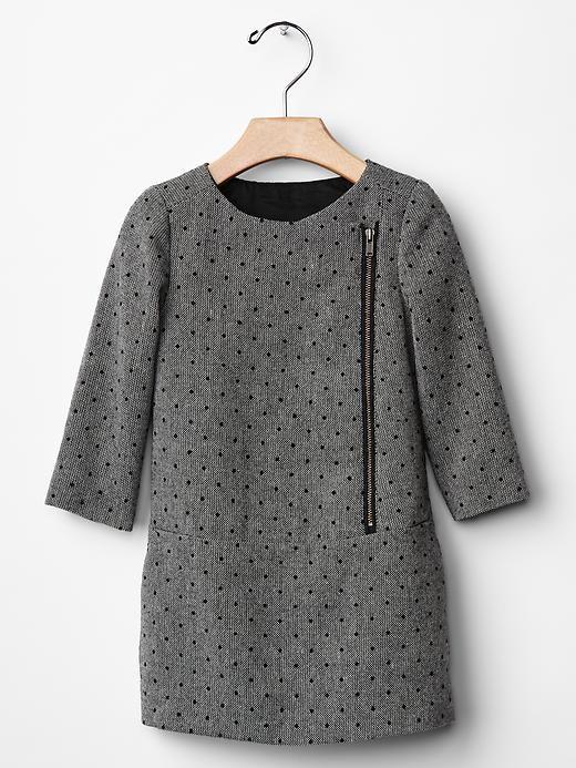 Dot tweed shift dress Product Image