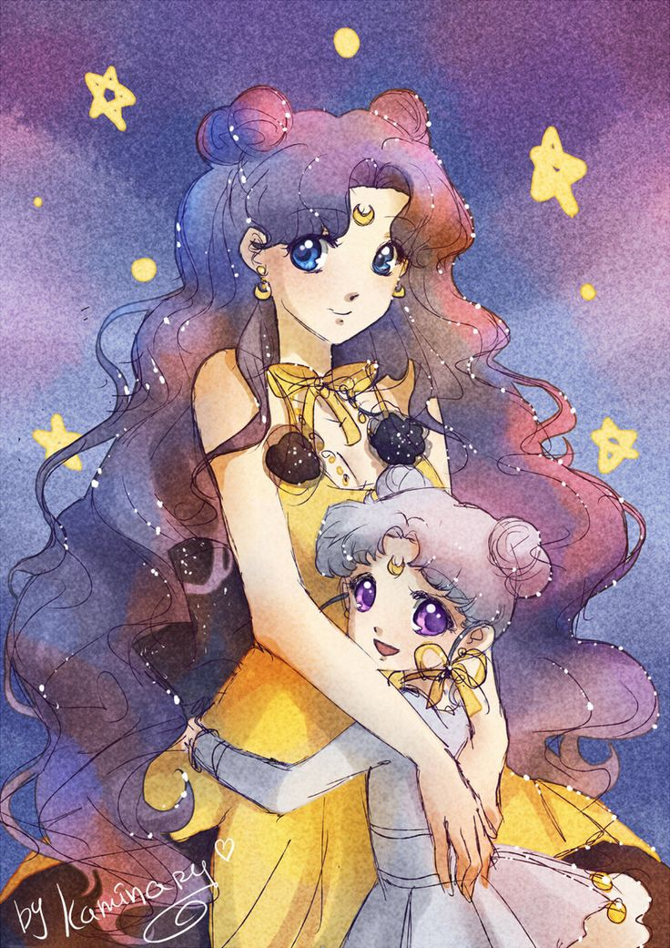 Moon cats by kaminary-san, luna and diana, sailor moon