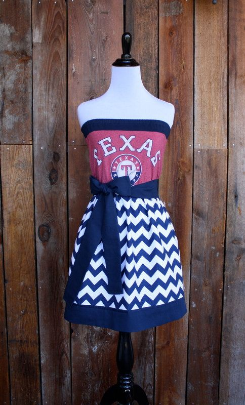 Texas Rangers Baseball Strapless Game Day Dress  by jillbenimble, $62.00