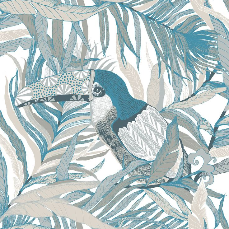 Kuiske Turquoise  wallpaper by Vallila