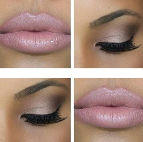 Not crazy about the lip color but love the subtle glam eyes
