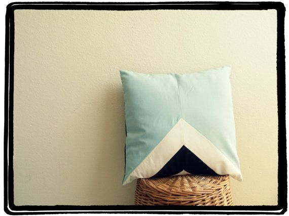 Simple, but really awesome looking! http://www.etsy.com/listing/126129650/blue-geometric-pillow-geometric-cushion