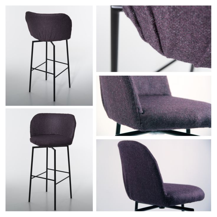 """""""Hi"""" is an elegant and comfortable barstool created by Rikke Ørstavik. The seat encourages you to vary the sitting position and the two different heights on the footrest appeal to both tall and short people.  The main mission is to make you feel good!"""