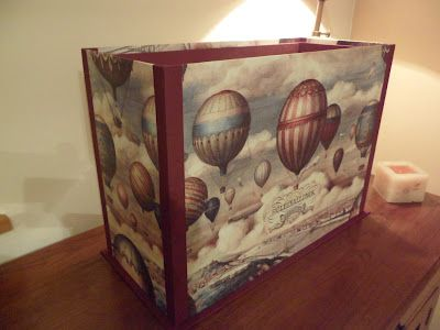Caja para guardar telas y papeles enrollados