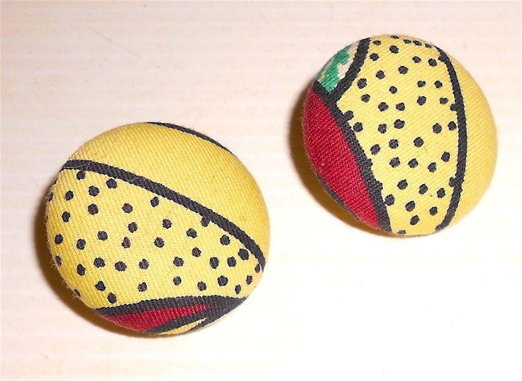 NAJ OLEARI 80s italy button clip earrings - orecchini a clip bottone