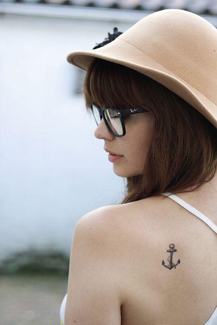 Temporary anchor tattoo.