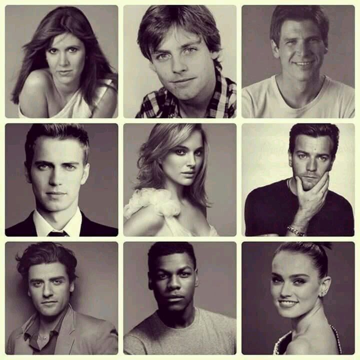 Generations of SW. Of course my favorite, who puts the rest to shame, has the goofiest portrait here. Everyone else is so serious.