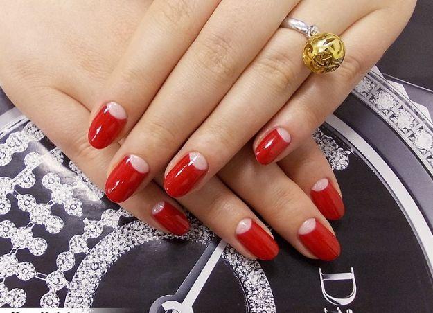 Красный французский маникюр (френч) ::: onelady.ru ::: #nail #nails #nailart #manicure
