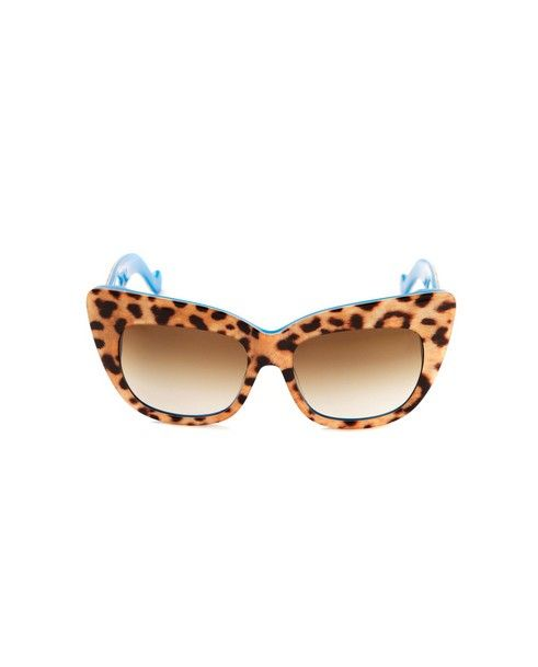 ANNA-KARIN KARLSSON Sunglasses  Alice Goes to Cannes leopard print graded brown lenses acetate material provided with case and box