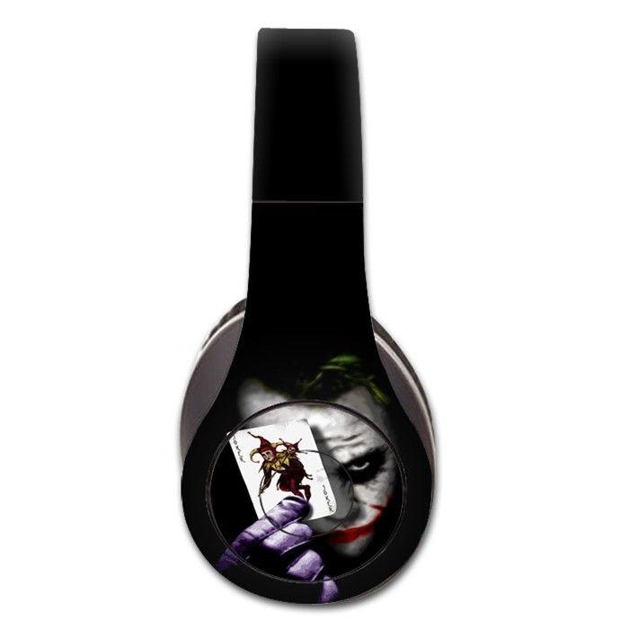 The Joker decal for Monster Beats Studio 1.0 wireless headphones