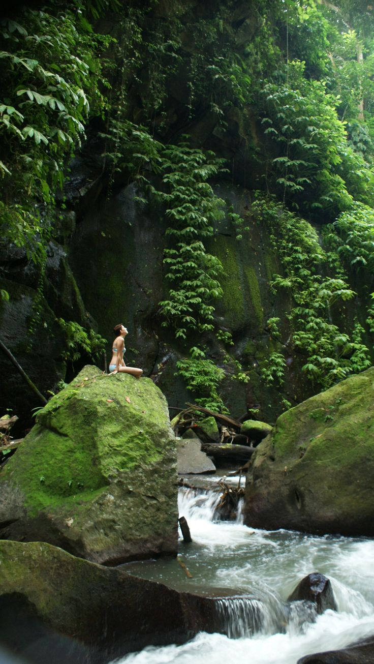 Ashleigh Morris: As I travelled through Indonesia on the way to the city of Salatiga I had a special moment in the Ayung River Valley. I was at peace in this moment after having walked down a steep ravine and over 180 stairs to this mystical river with huge boulders covered in moss and the sounds of birds and monkeys high in the canopy above me.
