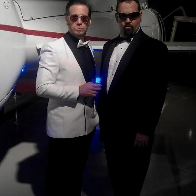 Todd Widdicombe & Sam Coward do double James Bond for Machjet International launch. Event by White House Celebrations and Strom.