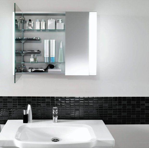 Espejo con luz y espacio para almacenaje para el ba o pinterest - Espejo con almacenaje ...