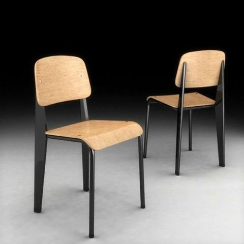 chaises design de 1934 de jean prouv pour restaurant commerciaux industriels longueuil. Black Bedroom Furniture Sets. Home Design Ideas