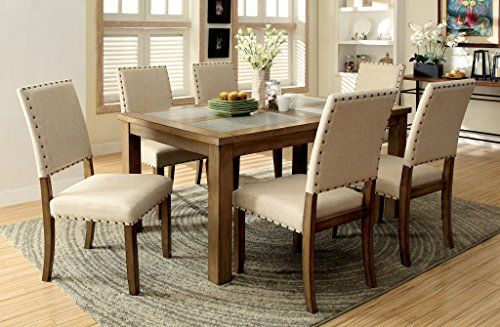 Furniture of America Lucena 7Piece Transitional Dining Set -- Visit the image link more details. (This is an Amazon Affiliate link and I receive a commission for the sales)