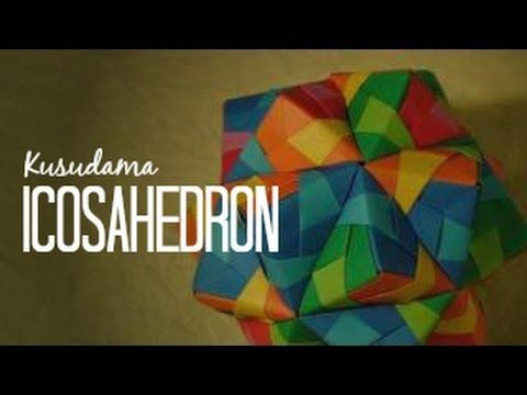 Origami Ball / Kusudama icosahedron Tomoko Fuse - YouTube
