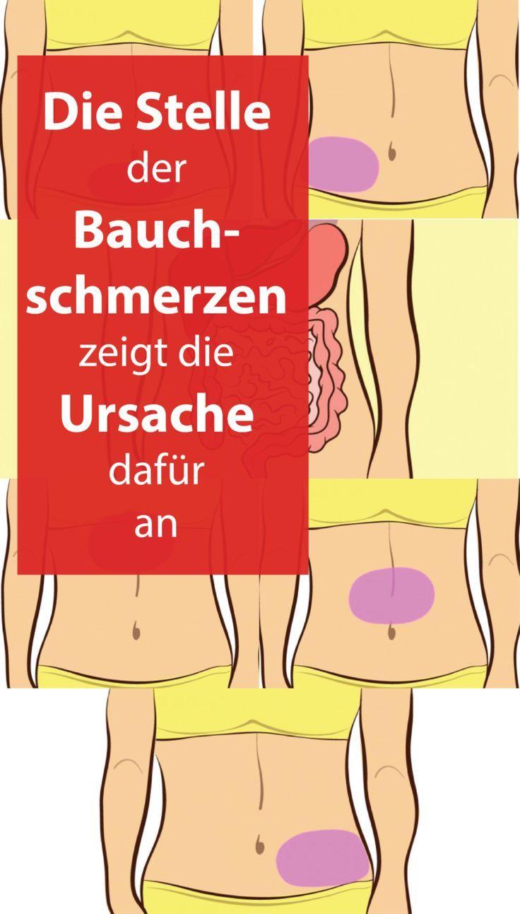 Die Stelle der Bauchschmerzen zeigt die Ursache dafür an. Vorsicht, wenn es oben rechts weh tut!