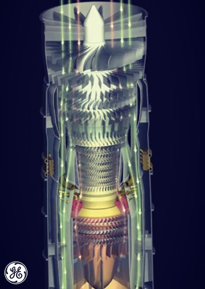 """Introducing… The Super Jet. Engineers are currently designing this new engine, which includes parts made from ceramic composites and intricate """"3-D printed"""" cooling components. #avgeeks #jetengines"""