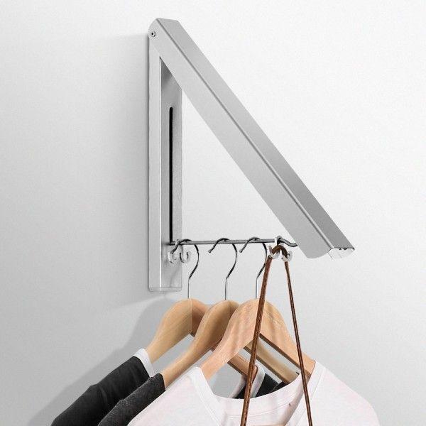 Porte-manteau rétractable http://www.homelisty.com/astuces-rangement-organisation-buanderie/
