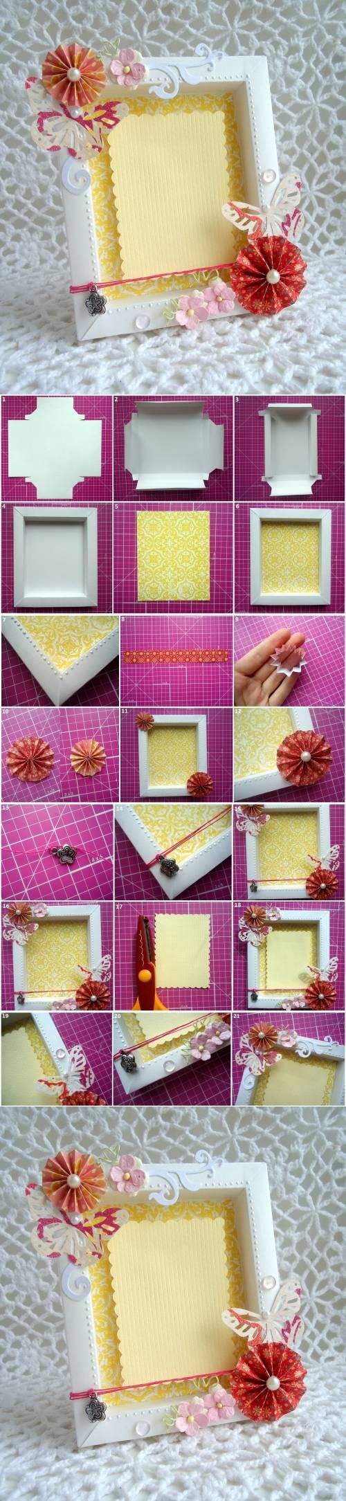 DIY Cute Cardboard Picture Frame | iCreativeIdeas.com Like Us on Facebook ==> https://www.facebook.com/icreativeideas