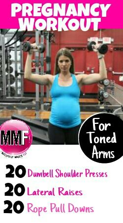 Pregnancy arms workout to help you be fit and toned during pregnancy.  All these exercises are safe to do in every trimester.  http://michellemariefit.publishpath.com/no-flabby-arms-pregnancy-workout