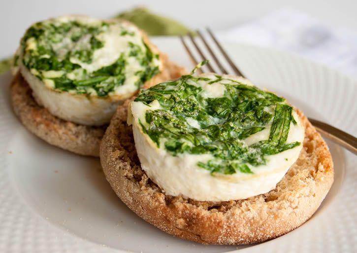 Spinach Feta Egg White Cups