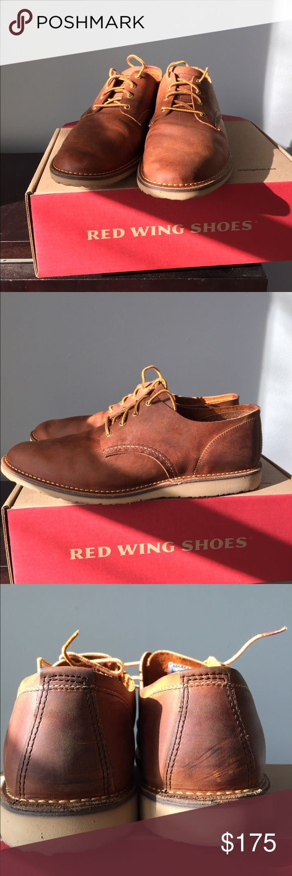 Gently Used Red Wing Heritage Weekender Oxford Gently used pair of Red Wing Weekender Oxfords. Worn once and realized they were too big. Added metal eyelets to the lace eyelets so they can't be returned. Love them but they just don't fit me (smaller pair is already on order!) Red Wing Shoes Shoes Oxfords & Derbys