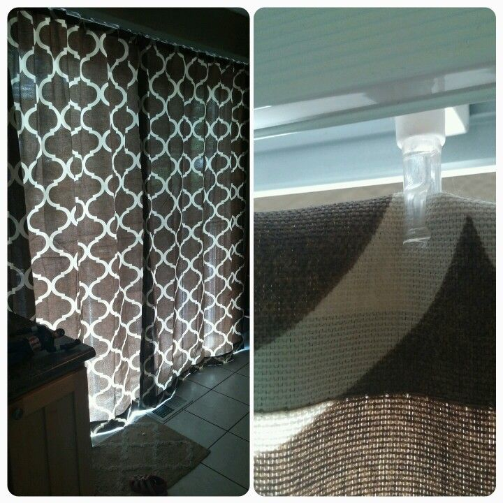 Easy Curtain Renter Hack For Replacing Vertical Blinds With A Pretty Curtain Sheer Curtains