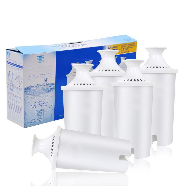 2016 Hot Sale! memurnikan ketel rumah tangga langsung minum air filter karbon aktif penggantian untuk brita pitcher 5 pcs/lot