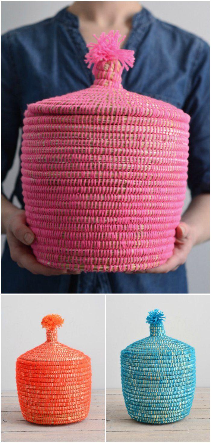 Pink baskets orange baskets and blue baskets - Decorator's Notebook Shop