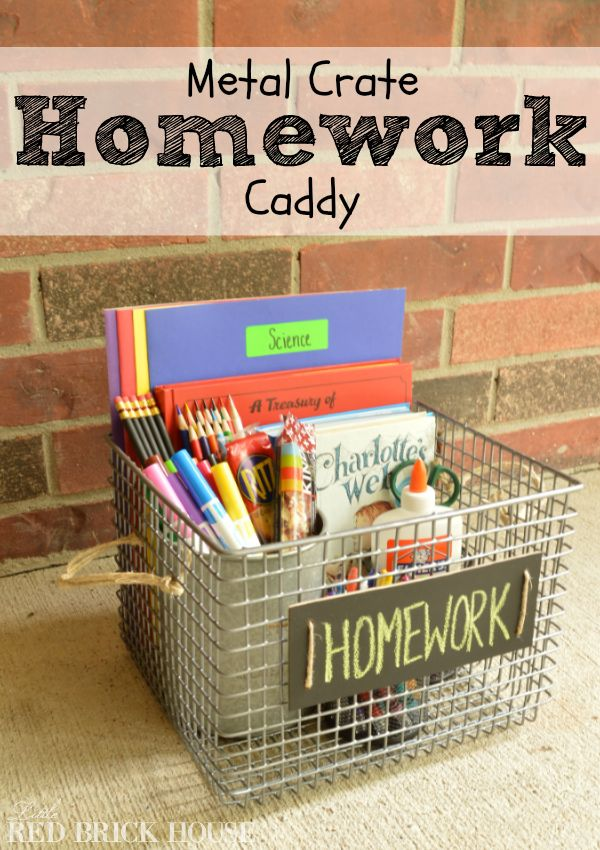 So CONVENIENT! Homework time just got a lot more organized! Corral school supplies in one convenient location with a handy and portable homework caddy.